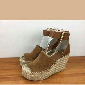 new Marc Fisher sandals Adalyn Espadrille Wedge  7
